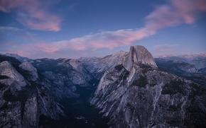 Картинка USA, США, Национальный парк Йосемити, Yosemite National Park, State California, Штат Калифорния, Glacier Point, Ледниковая …