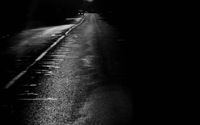 Картинка Дорога, Черно-белая, Полоса