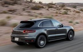 Картинка Дорога, Porsche, Пустыня, Машина, Скорость, Car, Порше, Speed, Turbo, Desert, Offroad, Macan