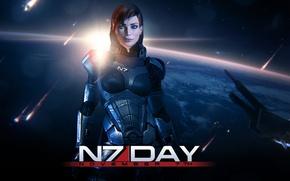Картинка космос, Земля, Earth, Mass Effect, Шепард, Shepard