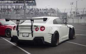 Картинка белый, Nissan, GT-R