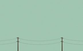 Обои провода, столб, опора