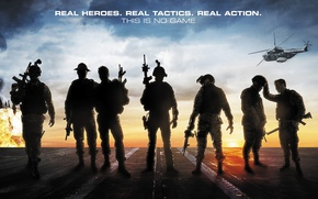 Картинка оружие, вертолет, солдаты, боевик, Act of Valor, Закон доблести