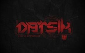 Картинка Музыка, Лого, Red, Логотип, Music, Black, Dubstep, Datsik