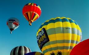 Картинка небо, воздушные шары, полёт
