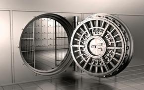 Картинка хранилище, железная плитка, железная сетка, железная стена, ячейки, железная дверь, Банк