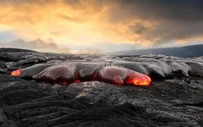 Обои лава, магма, пепел