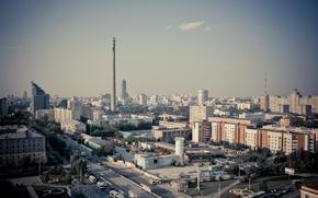 Картинка мегаполис, россия, крыши, площадь, свечение, city, город, огни, башня, фото, здания, высота, подсветка, мост, здание, ...