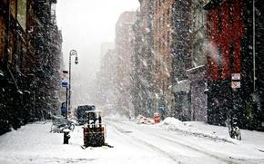 Картинка Зима, Нью-Йорк, Снег, снегопад, Winter, New-York, snowfall, New-york under snow