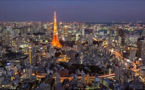 Картинка city, Токио, Tokyo, night