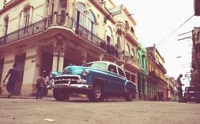 Обои улица, автомобиль, люди, Гавана, Куба
