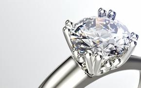 Обои gemstone, ring, diamond