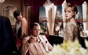 Картинка Нью-Йорк, Леонардо ДиКаприо, Айла Фишер, Leonardo DiCaprio, The Great Gatsby, Кэри Маллиган, американская классика, 20-е …