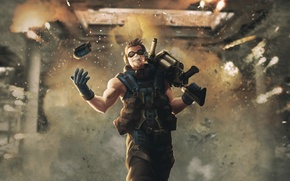 Картинка взрыв, огонь, гранатомет, bomber, гранаты, балистик, подрывник, ballistic, grenader, гранатометчик, гренадер