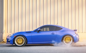Картинка Subaru, профиль, синяя, blue, субару, brz