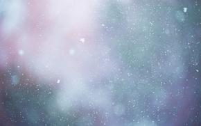 Картинка капли, снег, блики, фон, цвет, текстура