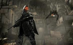 Картинка оружие, робот, солдат, дыры, Killzone 2