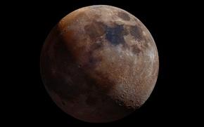 Картинка луна, спутник, Moon, контуры