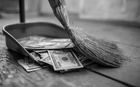 Картинка lost, money, broom, lack of control, inecesarios costs