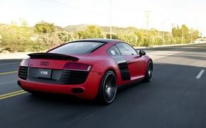 Картинка Audi, Supercar, Concavo Wheels, Red matte
