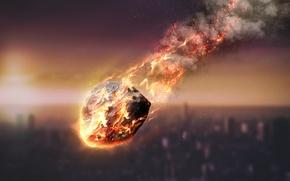 Картинка fire, energy, atmosphere, meteorite, friction