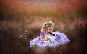 Картинка дружба, кролик, девочка