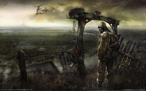 Картинка забор, Чернобыль, clear sky, Припять, Сталкер, Stalker