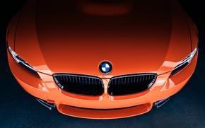 Картинка оранжевый, значок, бмв, капот, BMW, front, E92, orange, шильдик, радиаторная решётка, Lime Rock Park Edition