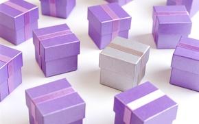 Обои цвет, лиловый, подарки, праздник, сиреневый, коробки, фиолетовый