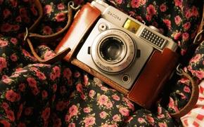 Картинка камера, фотоаппарат, ткань