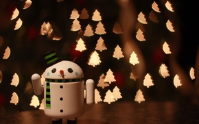 Картинка Android, Wallpapers, Merry Christmas, snowman