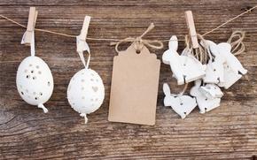 Картинка яйца, Пасха, кролики, wood, Easter, eggs