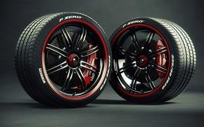 Картинка шины, диски, суппорт, Pirelli, тормозной диск