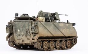 Картинка макро, игрушка, бронетранспортёр, моделька, M113A1, ACAV