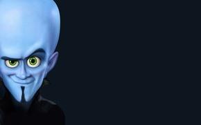 Обои синий, башка, мегамозг