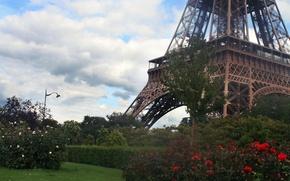 Картинка Франция, Париж, весна, Paris, France, spring, Eiffel Tower, architecture, Ейфелева Башня