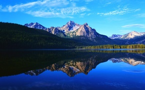 Картинка nature, lake, hill