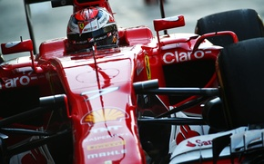 Картинка Шлем, Ferrari, Formula 1, Kimi Raikkonen, SF15T