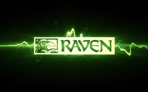 Картинка игра, логотип, ворон, raven