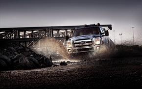 Обои машины, брызги, грязь, форд, auto pictures, тачки duty cars