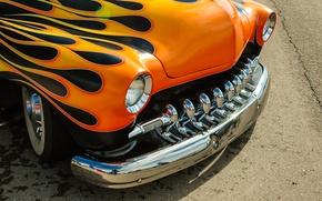 Картинка дизайн, ретро, автомобиль, классика, передок