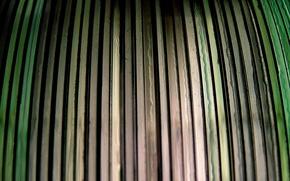 Обои доски, забор, зеленый, полоски, серый, цветные, полосы