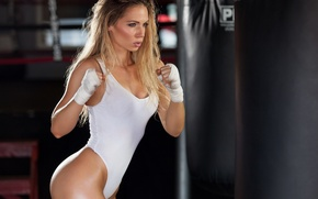 Картинка fitness, blonde, transpiration, training, boxing