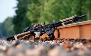 Картинка оружие, рельсы, AR-15, штурмовая винтовка