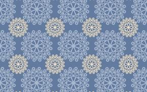 Картинка узор, текстура, орнамент, голубой фон