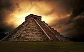 Обои майя, пирамида, Пирамида Майя