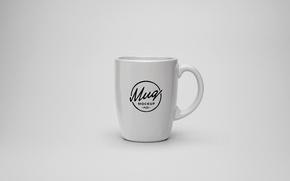 Картинка дизайн, логотип, чашка, белая