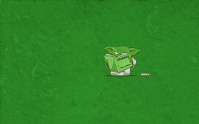 Обои юмор, Йода, учебник, Yoda