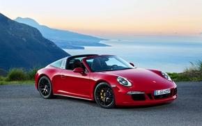 Картинка 911, Porsche, порше, GTS, 2015, Targa