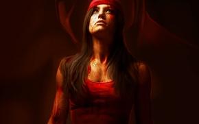 Картинка девушка, арт, убийца, Marvel Comics, Elektra, Elektra Natchios